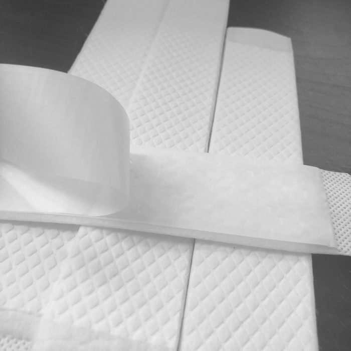 Sweat liner self-adhesive