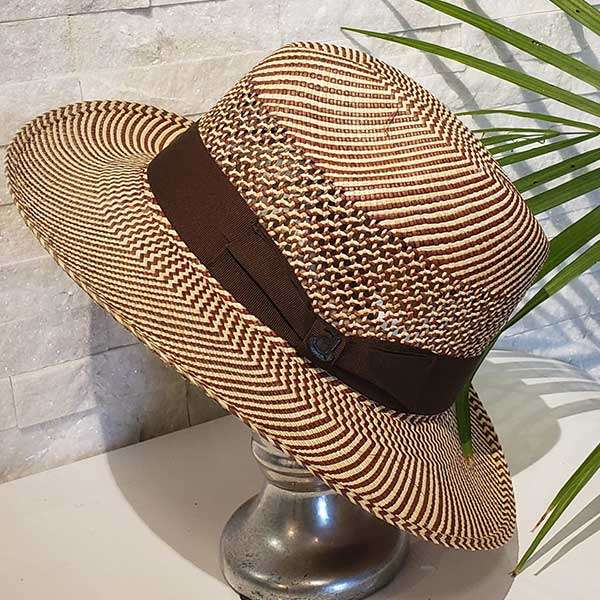 Classic Vented | Brown & Natural | Panama Hat