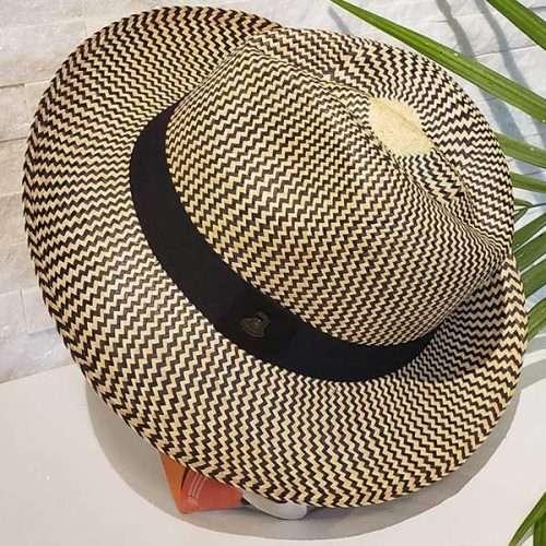 Classic Zig-Zag | Black & Natural | Panama Hat