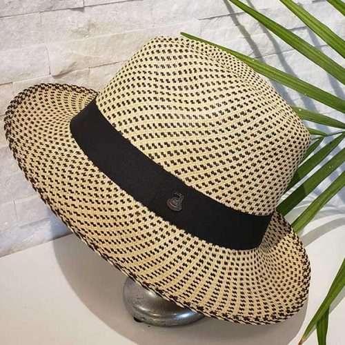 Classic Pointillism | Black & Natural | Panama Hat