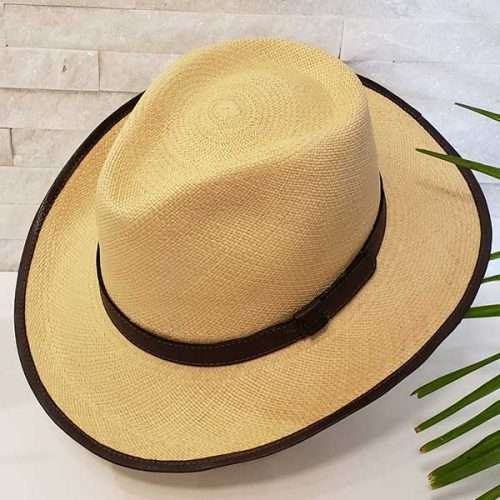 Teardrop | Brown & Natural | Panama Hat