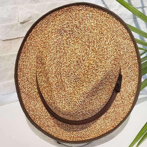 Sand Storm   Brown & Natural   Panama Hat