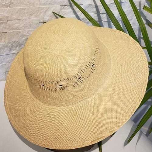 Women Vented Wide Brim | Off-White | Panama Hat