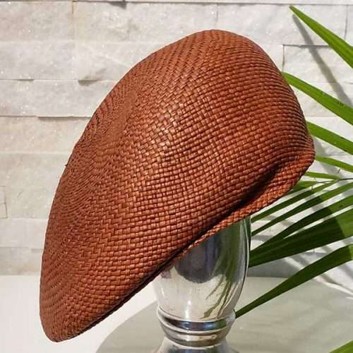 Flat Cap | Brown | Panama Hat