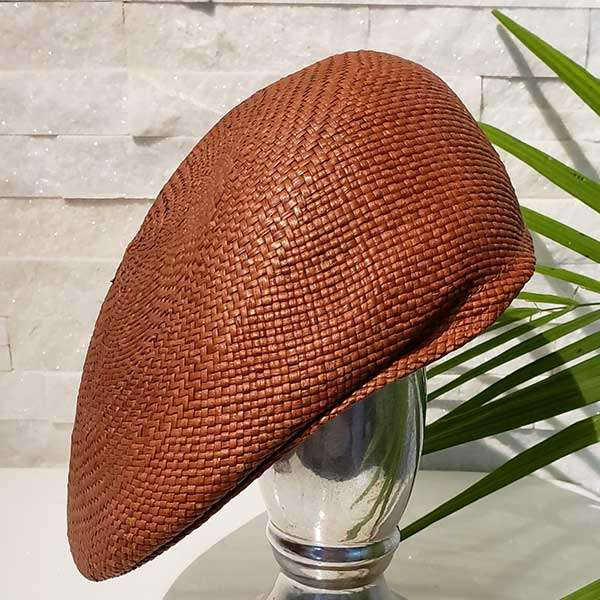 Flat Cap | Brown | Panama Hat