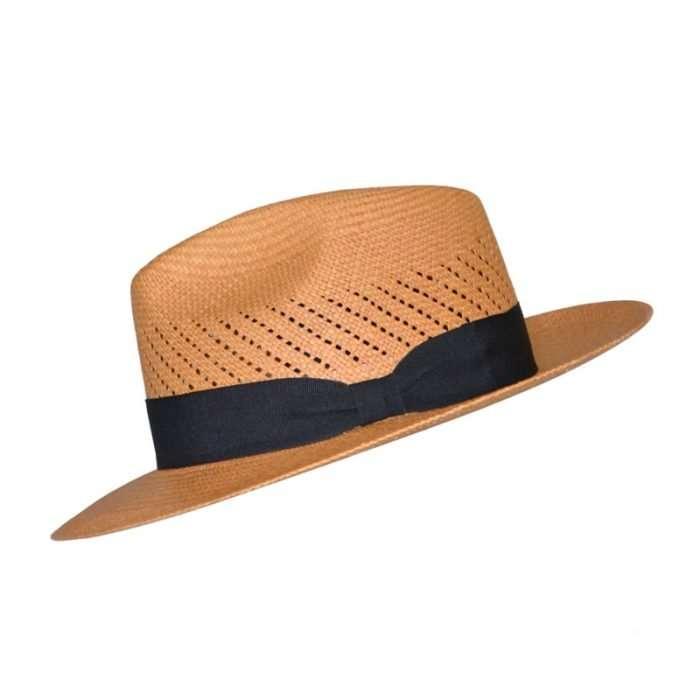 Panama Hat brown Calado side
