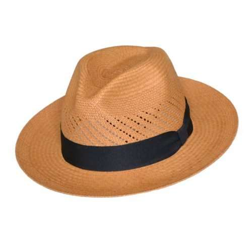Panama Hat brown Calado front