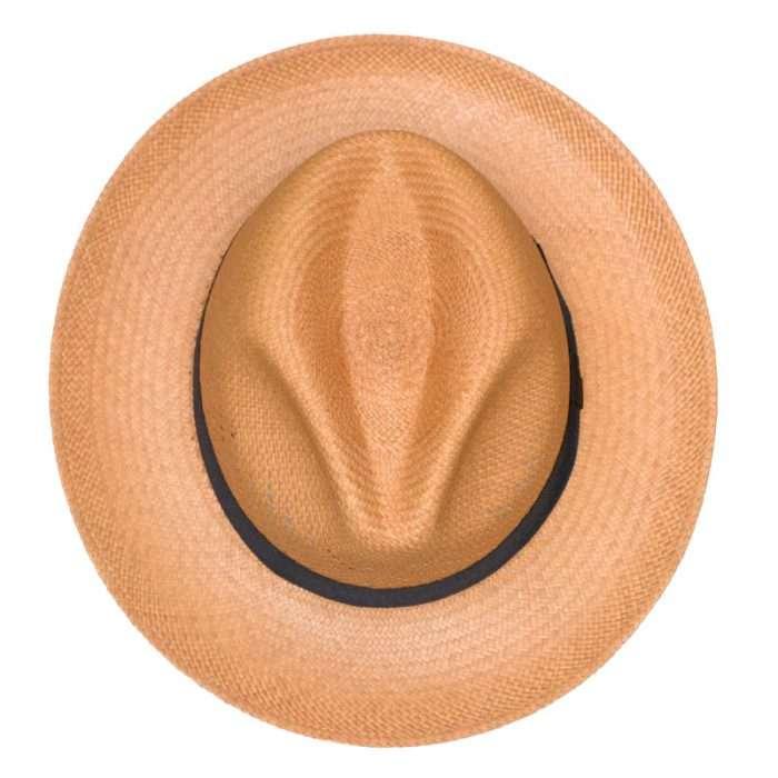 Panama Hat brown Calado top