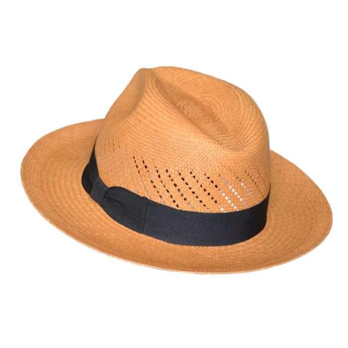 Panama Hat brown Calado back