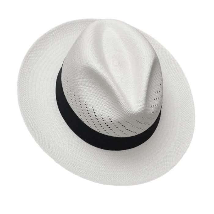 Panama Hat White Calado front