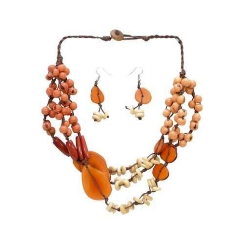 Beach Charm Orange Tagua Jewelry