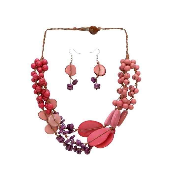 Beach Charm Pink Tagua Jewelry