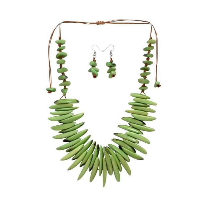Electric Tide Green Tagua Jewelry