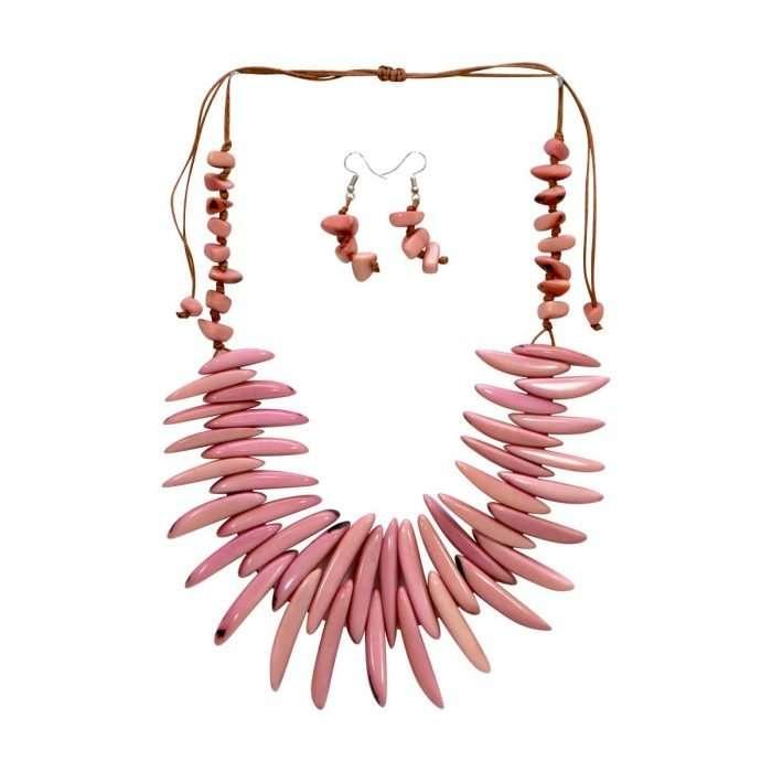 Electric Tide Pink Tagua Jewelry